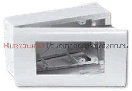 EMITER puszka natynkowa 4 modułowa + support metalowy + ramka plastikowa