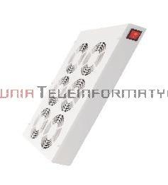 Panel wentylacyjny 6-wentylatorowy dachowo-podłogowy z termostatem szary/czarny