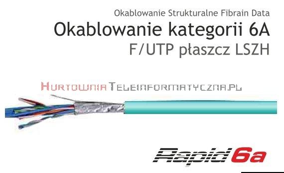 FIBRAIN DATA Rapid kat.6A F/UTP 500Mhz, drut, LSZH turkusowy