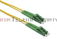 Patch cord światłowodowy LC/APC-LC/APC, SM, 9/125, dupleks, 2,0 m