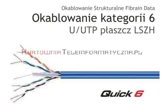 FIBRAIN DATA Quick kat.6 U/UTP 350Mhz LSZH drut 305 m niebieski