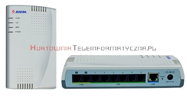 SLICAN centrala ITS-206 2LM, 6ab, 2VoIP, 1 IP