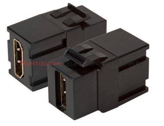 Moduł keystone HDMI (przelotowy), czarny