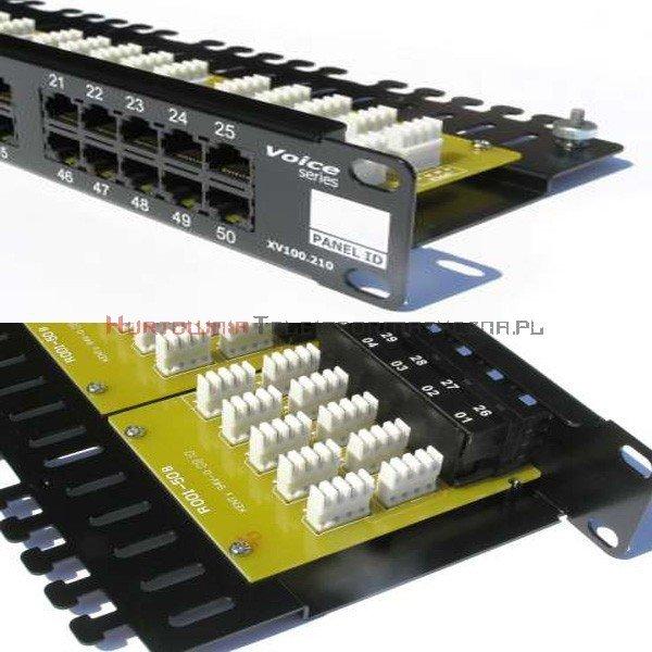 FIBRAIN DATA Voice Patch Panel 50 ports RJ45 Kat.3 z półką i polem opisowym