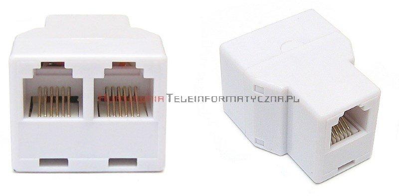 Rozdzielacz telefoniczny trójnik RJ12 6p6c 3x gniazdo