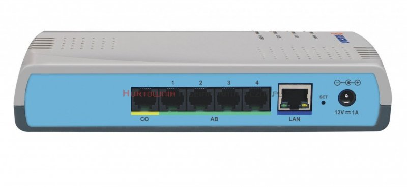 SLICAN centrala IPS-08.105 1xLAN, 1xPSTN, 4ab, 4VoIP, 8IP