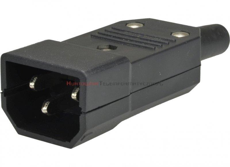 Wtyczka prosta C14 do zarobienia na przewód elektryczny