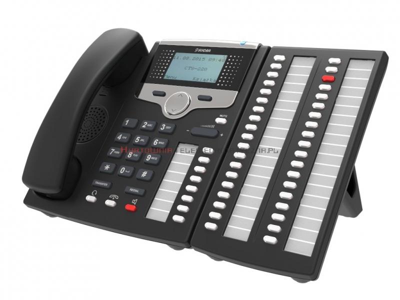 SLICAN Telefon systemowy CTS-220 (czarny)