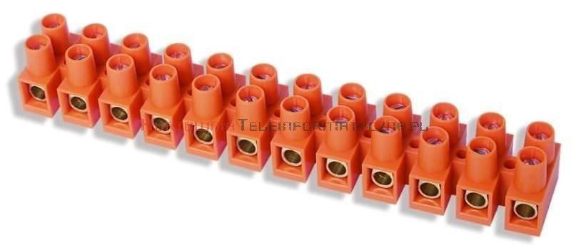 Złączka listwa zaciskowa 12-torowa 10mm2, pomarańczowa