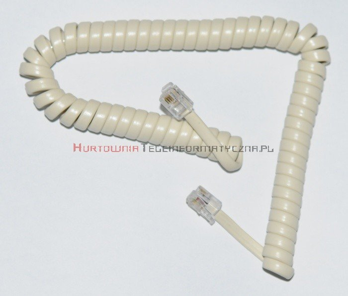 Kabel telefoniczny skrętny 3 m biały
