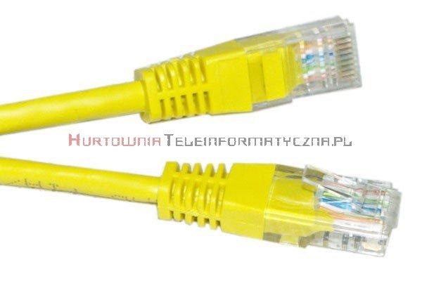 UTP Patch cord 0,25 m. Kat.5e żółty