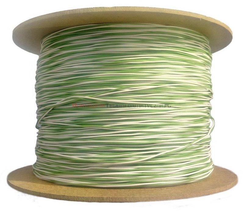 Kabel telefoniczny TDY 2x0,5 krosówka biało-zielony (500 m)