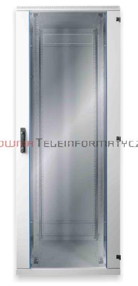 BKT Szafa ramowa stojąca, 42U, 600/600/1980, szer./gł./wys.  mm. drzwi blacha/szkło, RAL 7035 ( konstrukcja spawana - nośność 600 kg )