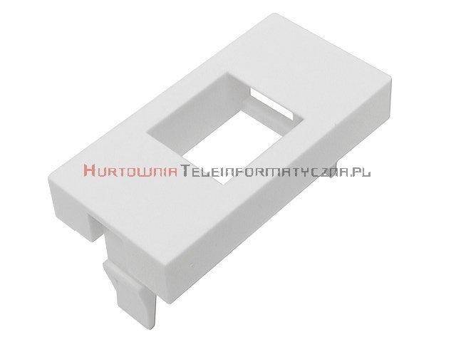 Adapter prosty 1 mod. 45x22,5mm pod keyston 1xRJ45,  bez klapki