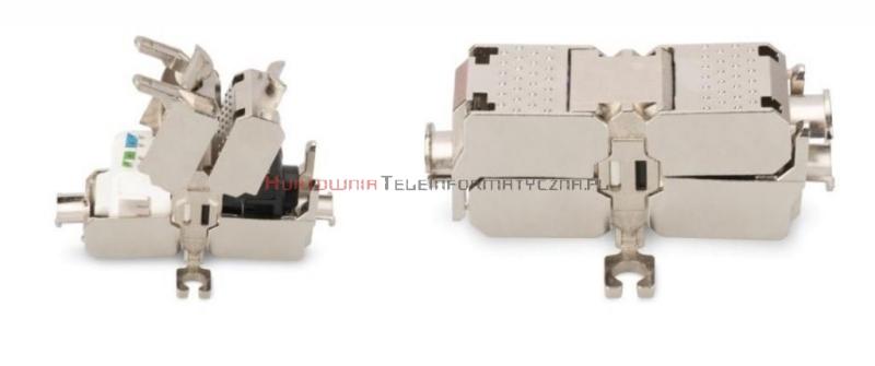 Łącznik kabla kat. 6a/7, FTP, metalowy, beznarzędziowy