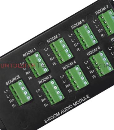 LogiWire Panel rozdzielczy Audio - wejscie 1x4pins - wyjście 8x4pins