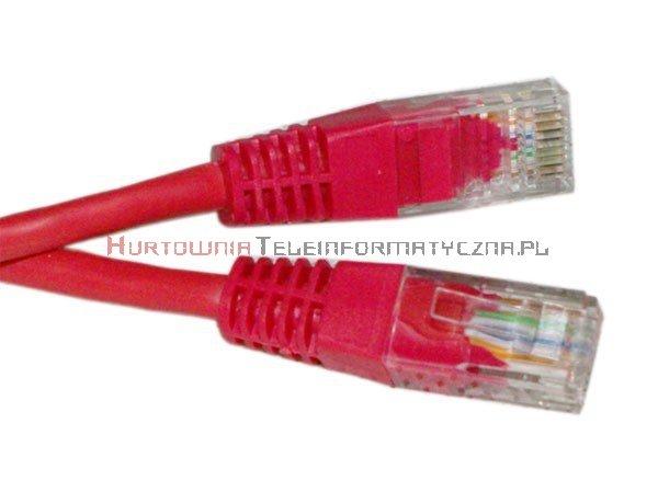 UTP Patch cord 0,5 m. Kat.6 czerwony