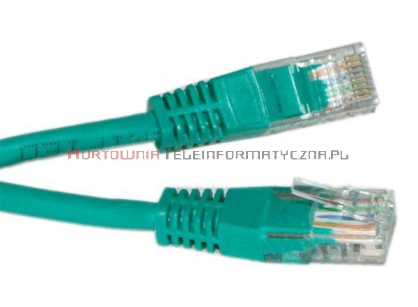 UTP Patch cord 5,0 m. Kat.5e zielony