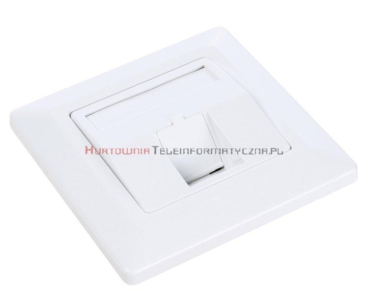 SOLARIX ramka/gniazdo modularne na 1 keyston, białe