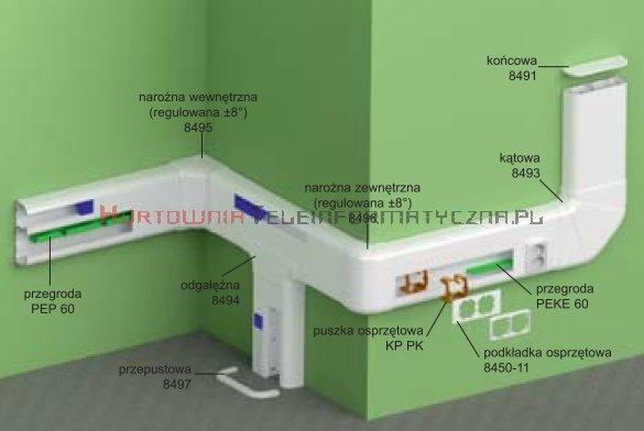 KOPOS Pokrywa narożna wewnętrzna / Narożnik wewnętrzny PK210x70D