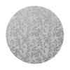 Podkład pod tort okrągły gruby (12mm) SREBRNY 25cm - Modecor