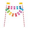 Dekoracja na tort KOLOROWY topper HAPPY BIRTHDAY
