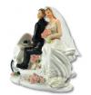 Figurka na tort ślub PARA MŁODA na skuterze