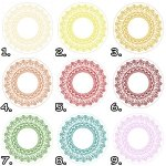 Opłatek okrągły na tort KORONKA (różne kolory) 20cm