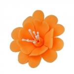 FUKSJA kwiat cukrowy na tort 6,5cm POMARAŃCZOWY 1szt
