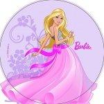 Modecor - opłatek na tort okrągły Barbie tańcząca