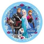 Modecor - opłatek na tort okrągły Kraina Lodu C (Frozen)