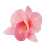 Storczyk kwiat cukrowy na tort 6cm różowy 1szt