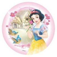 Modecor - opłatek na tort okrągły Królewna Śnieżka i Ptaszki