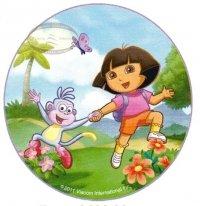 Kardasis - opłatek na tort okrągły Dora z małpką