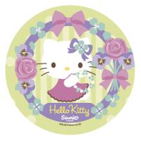 Opłatek na tort okrągły Hello Kitty B