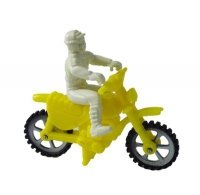 Motor + motocyklista figurka na tort ŻÓŁTY