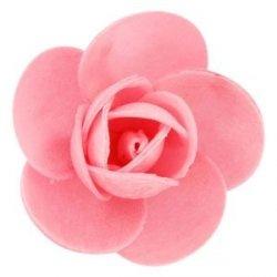Róża opłatkowa 5,5 cm różowa 3 szt.