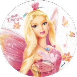 Kardasis - opłatek na tort okrągły Barbie Fairytopia