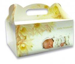 Pudełko do tortów z rączką na chrzest 1 szt.