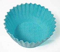Waflowe jadalne papilotki foremki na muffinki niebieskie 38 szt
