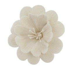 FUKSJA kwiat cukrowy na tort 6,5cm BIAŁY 1szt