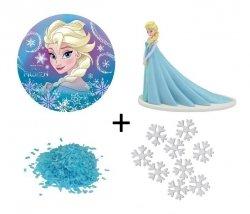 Zestaw do dekoracji tortu FROZEN Elsa