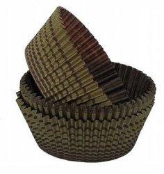 Papilotki foremki na muffinki 45mm brązowo-złote 100szt