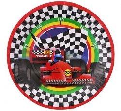 Talerzyki papierowe Race Fun 18 cm 6 szt.