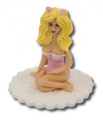 Figurka cukrowa na tort KRÓLICZEK Wieczór Kawalerski