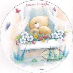 Kardasis - opłatek na tort okrągły Forever Friends