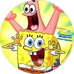 Kardasis - Opłatek na tort okrągły Pan Gąbka Spongebob 50814