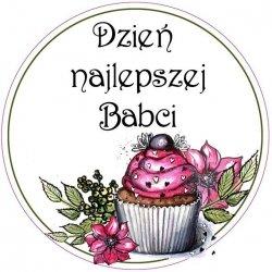 Opłatek waflowy na tort Dzień Babci 20cm v 2