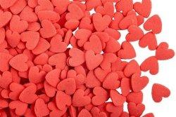 Posypka dekoracyjna confetti serduszka czerwone 150g
