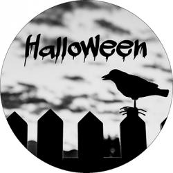 Opłatek waflowy na tort Halloween 20cm v2